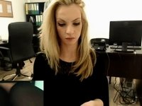 Secretary Masturbates on Webcam at Work Pt2 video on StupidCams