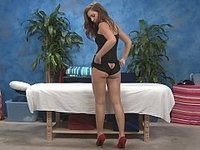 Maddy is stripping to massage video on StupidCams
