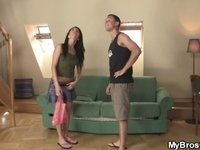 Lovely brunette gf cheating video on StupidCams