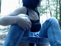 webcam amateur public forest outdoor bate video on StupidCams