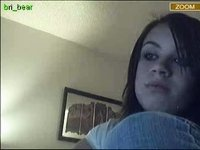 stickam girl using toy and rubbing video on StupidCams