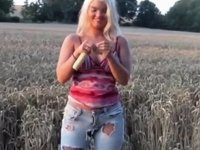 With corn on the cob in gazoo and snatch drilled video on StupidCams