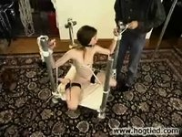 Melissa ashley in BDSM series video on StupidCams