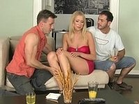 Tall, long legged European blondie by two video on StupidCams