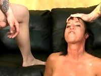 Fake Titty Brunette Slut Gagging During Rough Face Fuck video on StupidCams