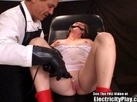 Anal Slut Gagged and Zapped on Exam Table video on StupidCams