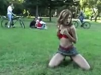 Jailbait striping outside video on StupidCams