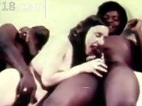 hot retro threesome copulating video on StupidCams