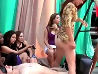 Real cfnm hotties tease video on StupidCams