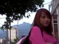 Real petit latina sprayed video on StupidCams