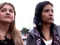 Real lesbian latinas lick video on StupidCams