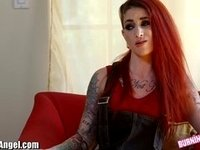 Goth Chick Sucks and Fucks for Competition video on StupidCams