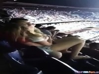 Amateur fingering in public video on StupidCams