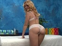 Sweet Lucy doing massage with her mouth better video on StupidCams
