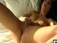 Hot pornstar gives a handjob video on StupidCams