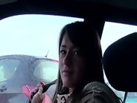 Russian amateur babe bangs in public pov video on StupidCams