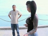 Christy Mack does it on the bus video on StupidCams