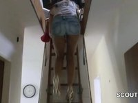 German Real Hooker Teen get fucked for Money at Home video on StupidCams