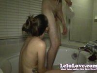 Lelu Love-Pussy Eating Riding Creampie In Bathtub video on StupidCams