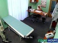 FakeHospital Brunette nurse gives patient sex video on StupidCams