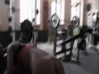 fucking a hottie in the gym video on StupidCams