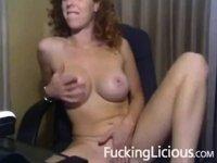 Girl with nice tits masturbating video on StupidCams