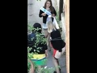 School girls peeing video on StupidCams