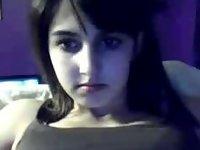 Girl masturbating on webcam video on StupidCams