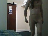 tranny wanking video on StupidCams