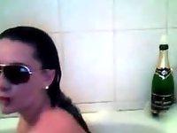 19yo teen in bath tube video on StupidCams