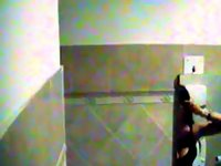 Little blond very good in toilet video on StupidCams