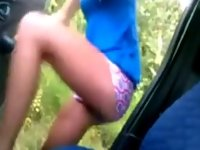 Skinny Prostitute Fucked In Car video on StupidCams