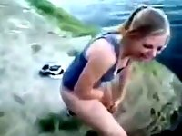 Drunk American Teen Pissing In The Lake video on StupidCams