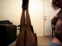 teen sisters fooling around video on StupidCams