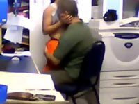 Boss tries to have sex with the secretary video on StupidCams