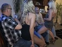 Blonde Germans in orgy video on StupidCams