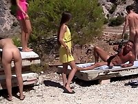 Real sex party on the sunny beach, part 2 video on StupidCams