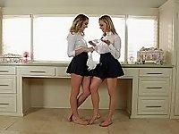 Lesbian step-sisters video on StupidCams