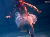 Bulava Lozhkova with a red tie and skirt underwater video on StupidCams