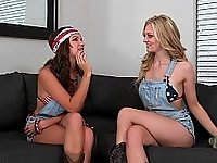 Patriotic lesbian action video on StupidCams