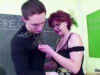 Female Milf Teacher show Young Boy How To Fuck in School video on StupidCams