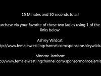Introducing Ashley!  Monroe Trains Ashley Female Wrestling video on StupidCams