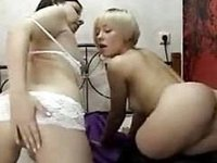 two romanian teen lesbians on their cam video on StupidCams