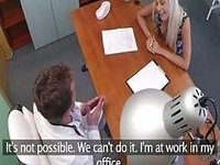amateur european pussyfucked in docs workplace video on StupidCams