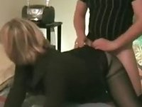 Kinky partygirl one night stand in doggystyle position with face to the cam video on StupidCams