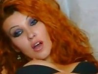 red hair babe girl touching her pussy and toying her asshole video on StupidCams