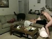 Caught non-professional pair fucking in my abode video on StupidCams