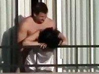 My neighbors drilled on the balcony video on StupidCams