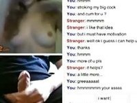 Hot nerdy girl with glasses helps a guy out on omegle video on StupidCams