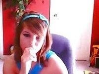 19yo stickam girl shallneverbebroken teases naked on a chair video on StupidCams